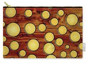 Wood And Gold Carry-all Pouch