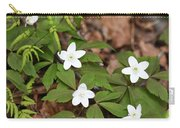 Wood Anemone Blooming Carry-all Pouch