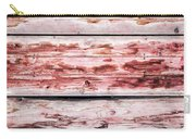 Wood Background With Faded Red Paint Carry-all Pouch