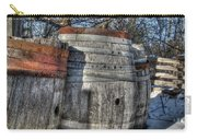 Wood  Barrel Oak Fermentation Whiskey Bourbon Cask Winter Snow Wood Faust Park Carry-all Pouch