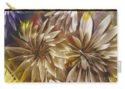 Wood Carved Dahlia Carry-all Pouch