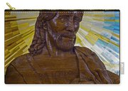 Wood Carving Of Jesus Carry-all Pouch