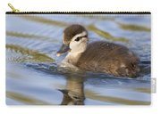 Wood Duck Duckling Swimming Santa Cruz Carry-all Pouch by Sebastian Kennerknecht