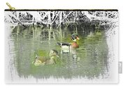 Wood Duck Pair Swimming. Carry-all Pouch