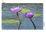 Wood Enhanced Water Lilies Carry-all Pouch
