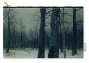 Wood In Winter Carry-all Pouch by Isaak Ilyic Levitan