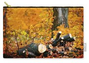 Wood Pile In Autumn Carry-all Pouch