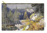 Wooded Landscape With A Path And A Mountain Beyond Carry-all Pouch