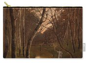 Wooded Landscape With Angler On The Riverside Carry-all Pouch