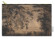 Wooded Landscape With Rainbow Carry-all Pouch