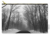 Wooded Winter Road Carry-all Pouch