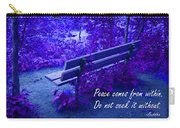 Wooden Bench With Inspirational Text Carry-all Pouch