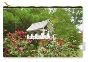 Wooden Bird House On A Pole 3 Carry-all Pouch