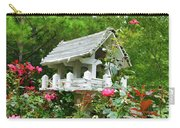 Wooden Bird House On A Pole 4 Carry-all Pouch