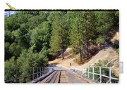Wooden Bridge Over Deep Gorge Carry-all Pouch
