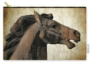 Wooden Carousel Horse Carry-all Pouch