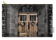 Wooden Church Door In Stone Archway Carry-all Pouch