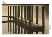 Wooden Dock In The Lake At Sunset Carry-all Pouch
