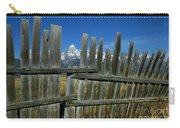 Wooden Fence, Grand Tetons Carry-all Pouch