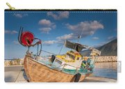 Wooden Fishing Boat On Shore Carry-all Pouch