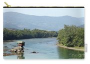 wooden house on rock Drina river Serbia Carry-all Pouch