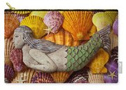 Wooden Mermaid Carry-all Pouch by Garry Gay