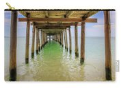 Wooden Pier Stretching Into The Sea Carry-all Pouch