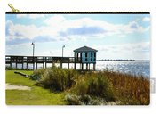 Wooden Pier With Pavilion Carry-all Pouch