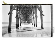 Wooden Post Under A Pier On The Beach Carry-all Pouch