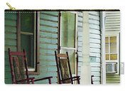 Wooden Rocking Chairs On Porch Carry-all Pouch