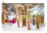 Wooden Shed In Winter Carry-all Pouch