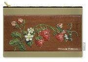 Wooden Strawberries Carry-all Pouch