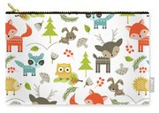 Woodland Animals Carry-all Pouch by Tiffany Dawn Smith