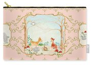 Woodland Fairy Tale - Blush Pink Forest Gathering Of Woodland Animals Carry-all Pouch