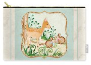 Woodland Fairy Tale - Deer Fawn Baby Bunny Rabbits In Forest Carry-all Pouch
