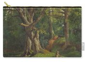 Woodland Scene With Rabbits Carry-all Pouch