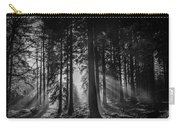 Woodland Walks Silver Rays B/w Carry-all Pouch