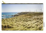 Woolnorth Wind Farm And Ocean Landscape Tasmania Carry-all Pouch