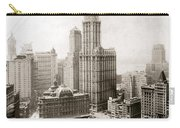 Woolworth Building, 1920s Carry-all Pouch by Granger