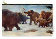 Wooly Mammoths Near The Somme River Carry-all Pouch