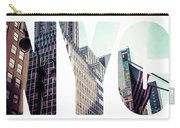 Word Nyc Manhattan Skyline At Sunset, New York City  Carry-all Pouch