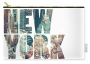 Word Usa Manhattan Skyline At Sunset, New York City  Carry-all Pouch