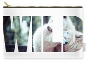 Word Wild Arctic White Wolf  Carry-all Pouch