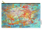 Work 00099 Abstraction In Cyan, Blue, Orange, Red Carry-all Pouch by Alex Hall