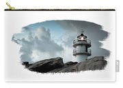 Working Lighthouse Isolated On White Carry-all Pouch