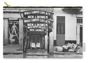 World Famous Love Acts French Quarter New Orleans Louisiana 1976-2012 Carry-all Pouch