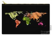 World Fruits Vegetables Map Carry-all Pouch
