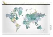 World Map 11 Watercolor Carry-all Pouch