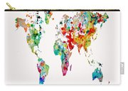 World Map 6b Carry-all Pouch