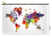 World Map 8 Watercolor Print  Carry-all Pouch